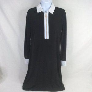 Ivanka Trump Black Shift Dress Long Sleeve Zipper